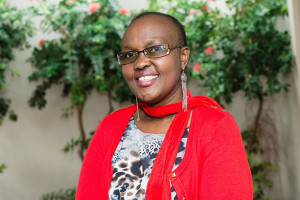 Susan Ngure, a breast cancer survivor hoping to inspire women to get screened today